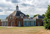 LONDON, UK - AUGUST 04, 2014 - Exterior of the Serpentine Gallery at Hyde Park in London, UK on Augu