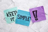 keep it simple - reminder or advice handwritten on colorful sticky notes