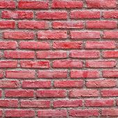 Background of the red brick wall texture