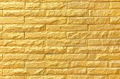 Golden Brick Wall Background Pattern Texture