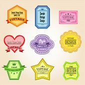 Colorful Vintage And Retro Badges Design With Sample Text (vector)