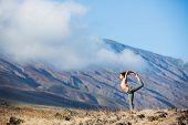Yoga woman outdoors