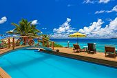 Pool At Tropical Beach - Seychelles
