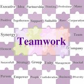 Jigsaw Puzzles Wording Of Teamwork.