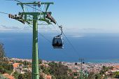 Cable Car To Monte At Funchal, Madeira Island Portugal