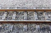 Empty Railroad Siding Closeup
