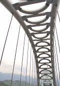 Steel construction of a bridge