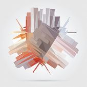 Abstract 3D business background.