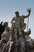 foto of schoenbrunn  - Neptune fountain in front of Schenbrunn park and palace in Vienna - JPG