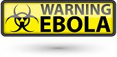 Ebola Virus Alert Sign,vector Illustration
