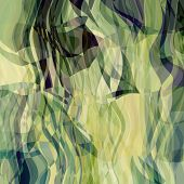 art abstract colorful chaotic waves pattern background with beige, green, light yellow, blue and bla