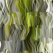 art abstract colorful chaotic waves seamless pattern; background with grey,  green, white, black and