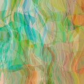 art abstract colorful geometric pattern with transparency waves; light background in green, blue, ye