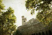 Vintage photo of Almudaina Palace, Palma de Mallorca, Spain