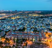 Ho Chi Minh city at blue hour