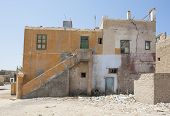 picture of derelict  - Old derelict abandoned building in an african egyptian town - JPG