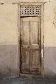 Old Doorway In Abandoned Egyptian House