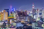 Wakayama, Japan downtown cityscape.