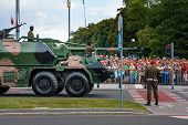 Polish Armed Forces Day. Gun Howitzer Dana 152