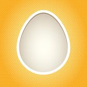 Yellow Egg Frame. Objects Grouped And Named In English. No Mesh, Transparency Used. Gradient Used.