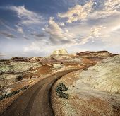 Path In Petrified Forest National Park, Arizona, Usa.