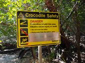Crocodile Danger Sign, Kakadu National Park, Australia