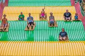 Kids On Carnival Slide At State Fair