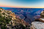 The Magnificent Grand Canyon In Arizona at Sunrise
