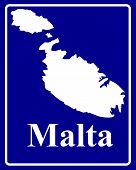 Silhouette Map Of Malta