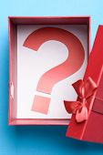 Gift Box With A Question Mark Symbol