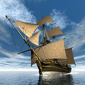Licorne ship - 3D render