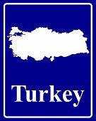 Silhouette Map Of Turkey