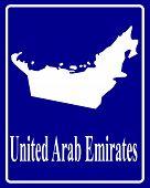 Silhouette Map Of United Arab Emirates