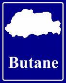 Silhouette Map Of Butane