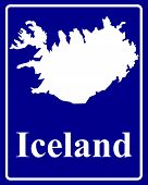 Silhouette Map Of Iceland