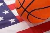 Basketball With American Flag