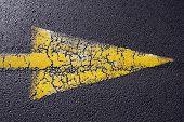 Cracked Yellow Arrow