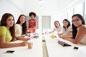 Portrait Of Women Working Together In Design Studio