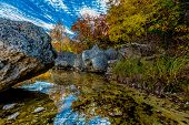 Amazing Sky, Foliage, and Clear Water at Lost Maples State Park, Texas