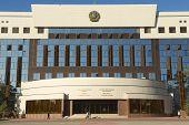 Exterior of the council of Astana city building, Astana, Kazakhstan.