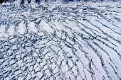 picture of denali national park  - Aerial View of the Crumpled Ice Field of an Alaskan Glacier in the Great Alaskan Wilderness - JPG