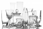 Different glassware isolated on white