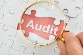 stock photo of financial audit  - Close - JPG