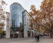 Berlin, Germany - November 12, 2014: Bmw Showroom Building At Kurfuerstendamm In Berlin, Germany On