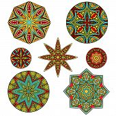 Set Of Ornate Ethnic Forms