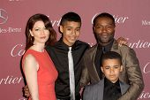 PALM SPRINGS, CA - JAN 3: David Oyelowo and family arrive at the 2015 Palm Springs Film Festival Awards Gala at the Palm Springs Convention Center on January 3, 2015 in Palm Springs, CA.
