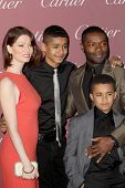 PALM SPRINGS, CA - JAN 3: David Oyelowo and family arrive at the 2015 Palm Springs International Film Festival Awards Gala at the Palm Springs Convention Center on January 3, 2015 in Palm Springs, CA.