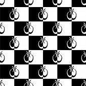 Seamless checkered pattern. Vector art.