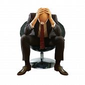 Bald Businessman In Depression