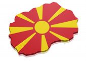 picture of macedonia  - detailed illustration of a map of Macedonia with flag - JPG
